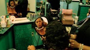 """Willis's """"Carrie in the Salon"""" shows artist Carrie Mae Weems and much more. (Photo courtesy of the artist.)"""