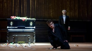At long last, the marauder goes down. Dennis Chmelensky and Vartan Gabrielian in 'Don Giovanni.' (Photo by Tobin Del Cuore.)