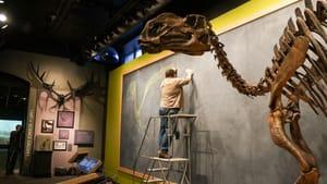 Dinosaurs roam the earth again in Philadelphia. (Photo by Lauren Duguid/ANS.)