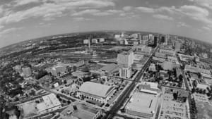 Aerial view of Drexel University and West Philadelphia circa 1985. (Photo courtesy of Drexel University Archives)