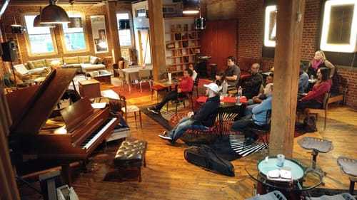 As long as the piano is tuned and the bathroom is stocked, Drummers is open. (Photo courtesy of the Philadelphia Jazz Project.)