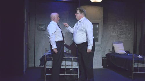 Unspoken tension: Dan Hickey and Randall McCann in 'The Dumb Waiter.' (Image courtesy of SCTC.)