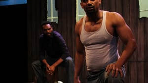 An easy rapport: Walter DeShields and Carlo Campbell in 'Egoli: City of Gold.' (Photo by Cass Meehan.)