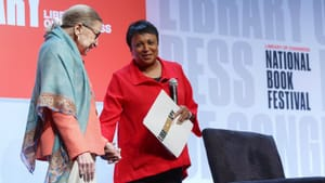 Librarian of Congress Carla Hayden with Ruth Bader Ginsburg at the 2019 Festival. (Image courtesy of Library of Congress.)