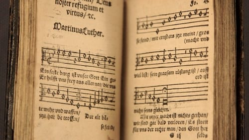 A rare early print of Martin Luther's 'Ein fest Burg.' (Photo via Creative Commons/Wikipedia)