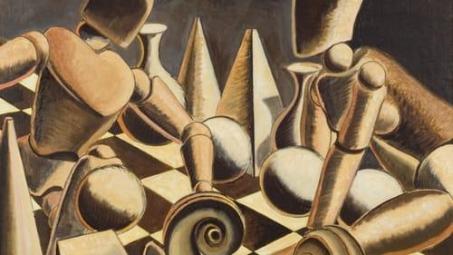 "Man Ray, ""Endgame,"" 1946. Oil on canvas. (Copyright Man Ray Trust / Artists Rights Society (ARS), NY / ADAGP, Paris)"