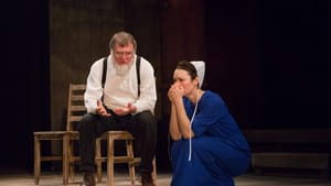 A story about men's places becomes so much more: William Zeilinski and Katie Kleiger in PTC's 'Everything is Wonderful.' (Photo by Mark Garvin.)