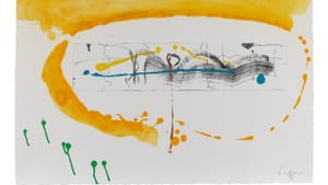 Eyes at the symphony, seeing sound: Frankenthaler's 1995 'Making Music.' (Photo courtesy of PAFA; see complete credit info below.)