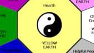 Feng shui bagua map: The root of my troubles is in here somewhere.