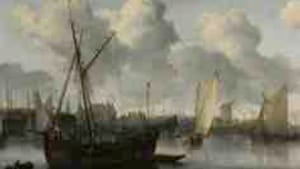 Allaert van Everdingen's 'Fishing Boats in a Harbor,' from the Cleveland Museum: Up for sale.