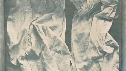 A haunting elegy that bursts from the frame: Alida Fish's 1977 Floating Dresses, a gum bichromate photograph. (Image courtesy of the artist.)