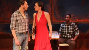 Little palpable danger: Jered McLenigan, Julianna Zinkel, and Steven Wright in EgoPo's 'Fool for Love.' (Photo courtesy of EgoPo.)