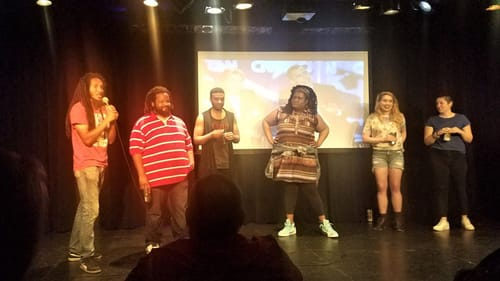 The black men face off against the white women at 'For My People.' (Image courtesy of Katonya Mosley.)
