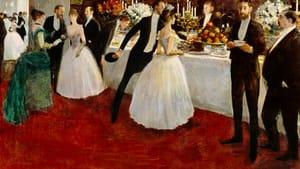 """""""The Buffet,"""" Jean-Louis Forain, 1884."""