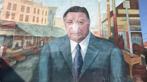 Rizzo's mural has the dubious honor of being Philadelphia's most vandalized. (Photo via Creative Commons/Wikimedia.)