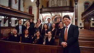 Koji Otsuki and his Gamut Bach Ensemble. (Photo by Michelle Shirk.)