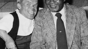 """""""Mace"""" Bugen and former World Heavyweight Boxing champion Jersey Joe Walcott. (Photo courtesy of Gabrielle Kaplan-Mayer)"""