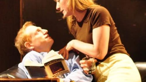Scott Shepherd and Annie McNamara in 'Gatz.' (Photo by Mark Barton.)