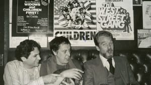 """Playwrights Harvey Fierstein, Robert Patrick, and Doric Wilson under posters for their own plays at Phebe's, """"the Sardi's of Off-Off Broadway,"""" 1981. (Photo by Adam Craig, provided by Robert Patrick)"""