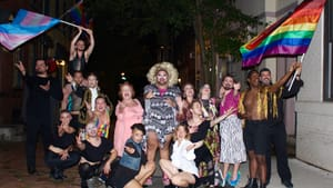 'Les Mis' is all over the place—just like gender. Enter the ensemble of Eric Jaffe's 'Gay Mis.' (Photo by Marykate McMullen.)