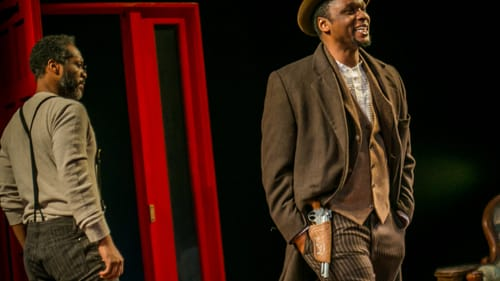 Does your wallet hold your worth? Steven Wright and Bowman Wright in the Arden's 'Gem of the Ocean.' (Photo by Ashley Smith, Wide Eyed Studios.)