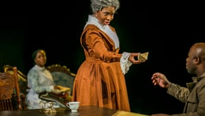 What did Aunt Ester carry? Danielle Leneé, Zuhairah, and Akeem Davis in the Arden's 'Gem of the Ocean.' (Photo by Ashley Smith, Wide Eyed Studios.)
