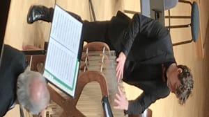 Subtle, pristine, and sensitive musicianship: soloist Friedrich Heinrich Kern on the glass harmonica. (Photo by Gail Obenreder.)