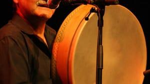 Glen Velez plays the frame drum at the Philadelphia Rhythm Festival. (Photo via GlenVelez.com)
