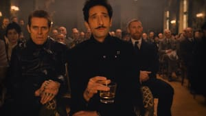 """Those wacky Nazis: Willem Dafoe and Adrien Brody in """"The Grand Budapest Hotel."""""""
