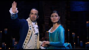 Lin-Manuel Miranda and Phillipa Soo are Alexander and Eliza Hamilton in the original Broadway production. (Photo courtesy of Disney.)