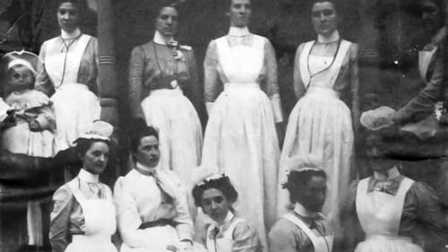 Nurses (like this class from 1900) trained and graduated by Bradford Hospital and other rural healthcare facilities provided crucial services  throughout Pennsylvania. (Image courtesy of Bradford Regional Medical Center.)