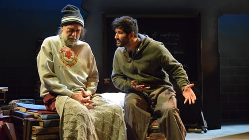 The building blocks of compelling drama: Tim Moyer and Yousof Sultani. (Photo courtesy of Seth Rozin and InterAct Theatre Company.)