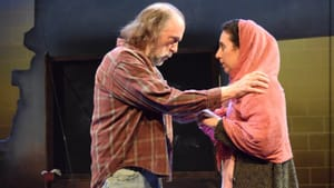 Dramatic or didactic? Tim Moyer and Nazli Sarpkaya in 'Heartland.' (Photo courtesy of Seth Rozin and InterAct Theatre Company.)
