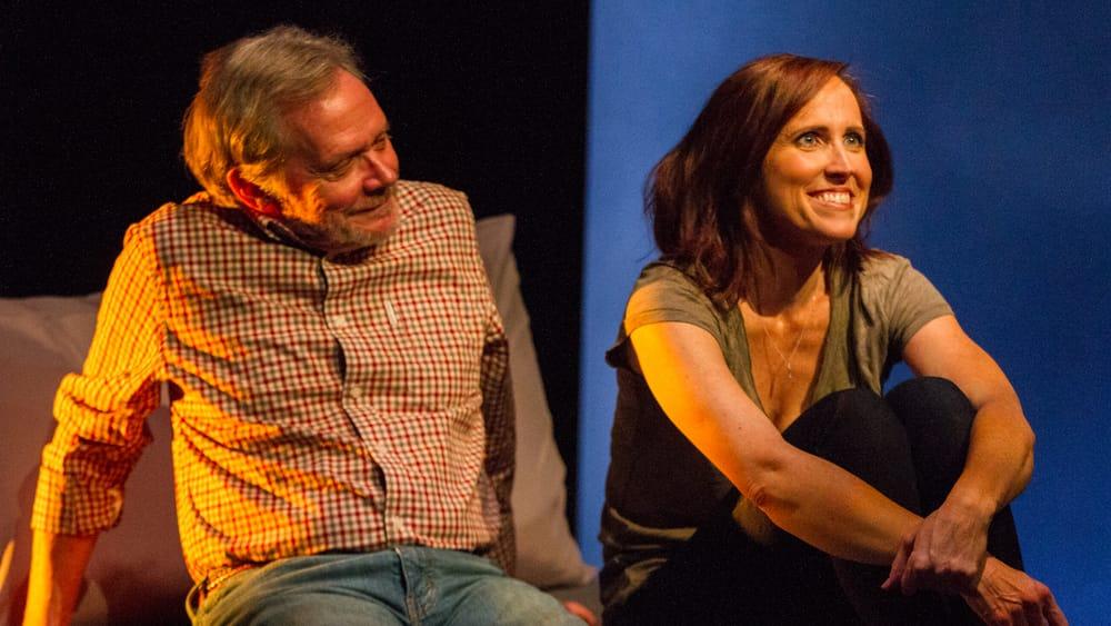 Martin and Peakes meet cute, but get serious. (Photo by Matt Urban, Mobius New Media.)