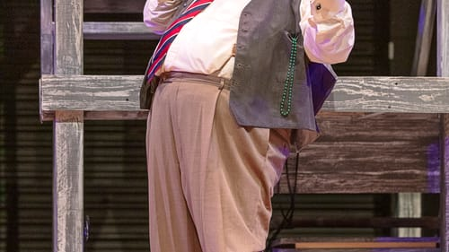 John Ahlin takes his second turn as Falstaff on the PSF stage. (Photo by Lee A. Butz.)
