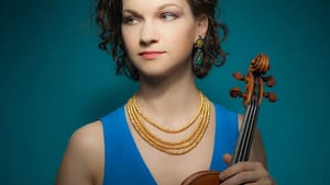 Violinist Hilary Hahn brought great refinement and feeling to her solo. (Photo courtesy of the Philadelphia Orchestra.)
