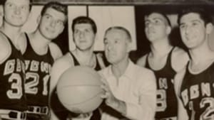 Nat Holman's CCNY teams (above, in 1954) were tarred by a point-shaving scandal long after the rogue players departed.