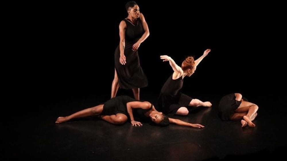 Exploring the self, in community and isolation: the ensemble of 'Redefine US, from the INside OUT.' (Image courtesy of HopeBoykinDance.)