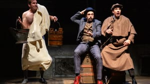 Well-cast pranksters: Sean Close, Dave Johnson, and Damon Bonetti in DTC's 'Hound of the Baskervilles.' (Photo by Matt Urban at NüPOINT Marketing.)
