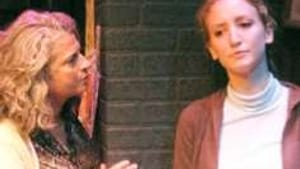 Frings (right) with Janis Dardaris in 'The How and the Why': Beyond entertainment.