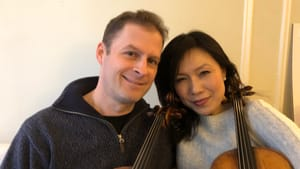 Playing together with practiced ease: violists Misha Amory and Hsin-Yun Huang. (Image courtesy of PCMS.)