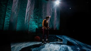 Sublime design and a strong performance from Satchel Williams in Inis Nua's 'A Hundred Words for Snow.' (Photo by Wide Eyed Studios.)