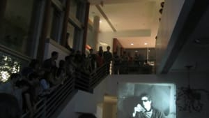 A packed Secret Cinema screening at the Institute for Contemporary Art. (Photo by Silvia Hortelano-Pelaez.)