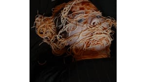 Challenging the theater-industrial complex…in pasta. (Image courtesy of Eibhleann Clyne.)