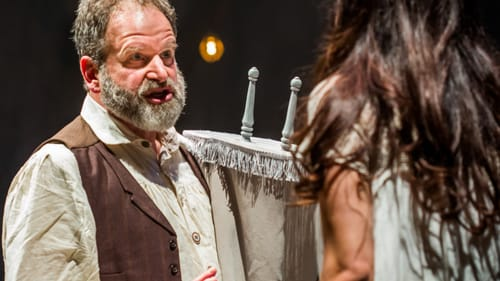 An American daughter? David Ingram and Michaela Schuchman in 'Indecent.' (Photo by Ashley Smith, Wide Eyed Studios.)