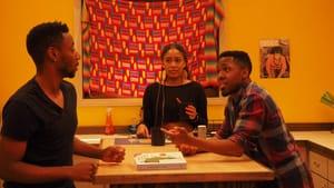A conversation inside Ubuntu House. (Image courtesy of Grasshopper Film.)