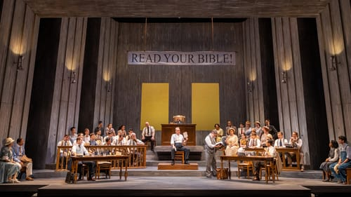 A big play in a big production: 'Inherit the Wind' at the University of Delaware. (Photo by Kevin Quinlan.)
