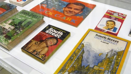 Midcentury Philly is an open book at 'Invisible City,' including posters, books, and other ephemera on view at Gershman Hall. (Photo by Pamela Forsythe.)