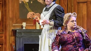 Think 'Downton Abbey' meets drag: Christopher Patrick Mullen and Brad DePlanche in 'Irma Vep.' (Photo by Lee A. Butz.)