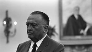 Hoover in the Oval Office, 1967. (Photo by Yoichi R. Okamoto, public domain via Wikimedia Commons)